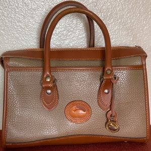 DOONEY & BOURKE-VINTAGE LEATHER SATCHEL